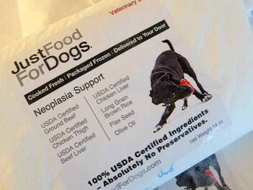 Just Food For Dogs Neoplasia Support Ingredients