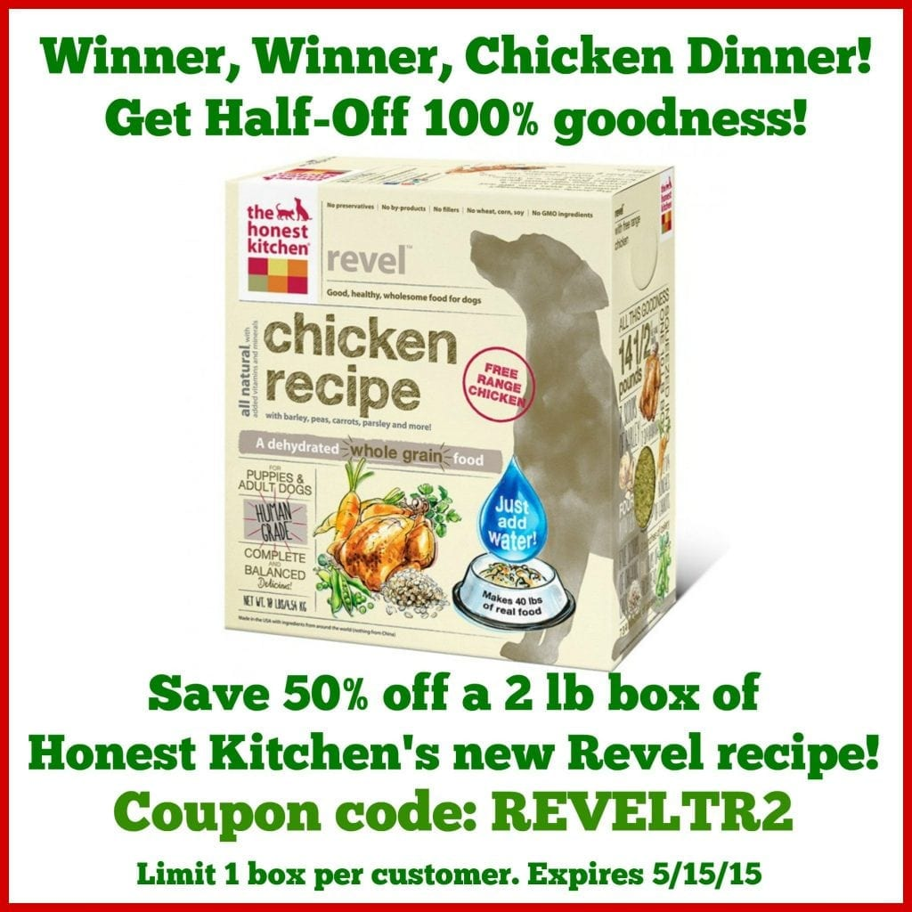 tripawds nutrition honest kitchen half off coupon for