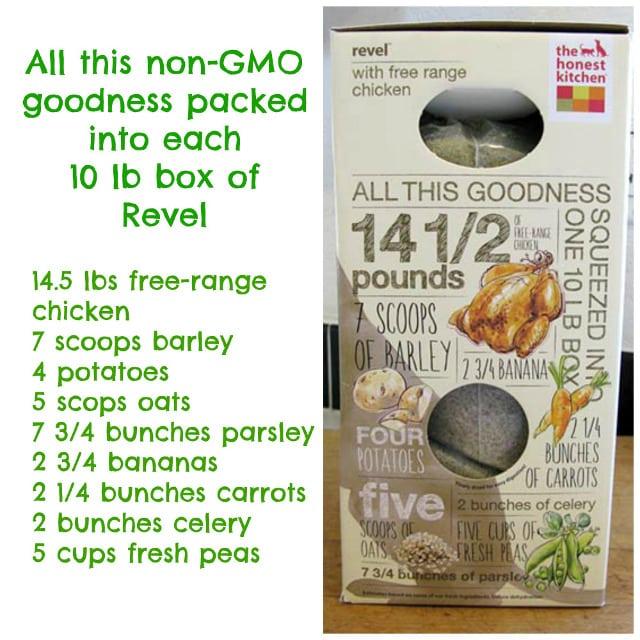 Revel Honest Kitchen ingredients