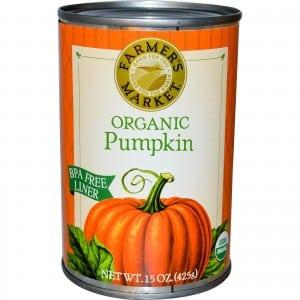 organic canned pumpkin pulp pets