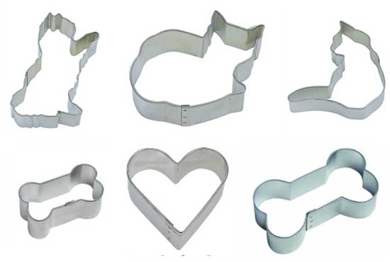 Dog and Cat Cookie Cutters