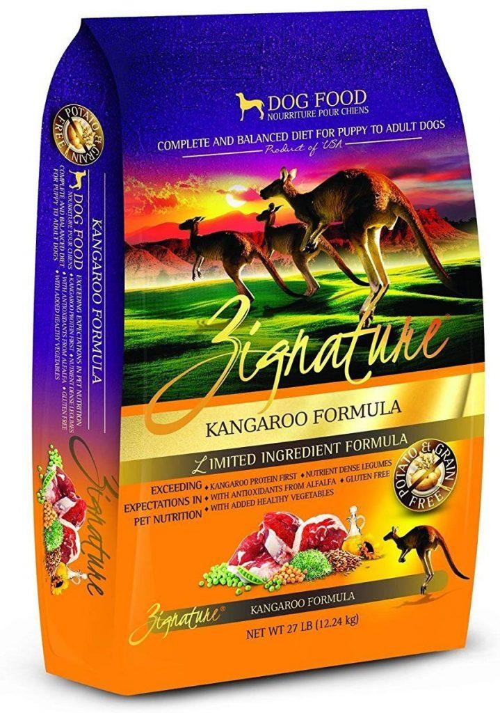 Zignature grain free dog food