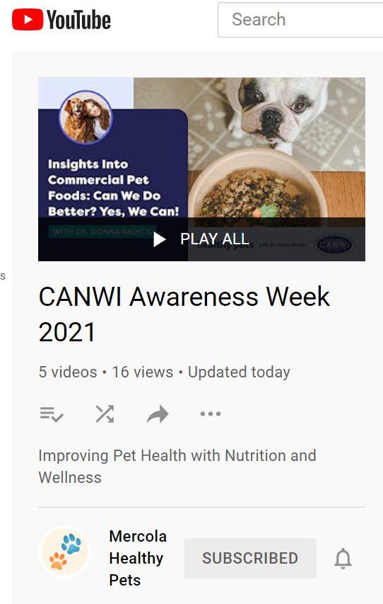 CANWI Awareness Week 2021 videos